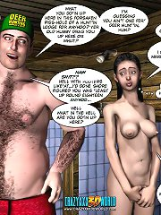 3d porn comics about a young cheerleader girl fucking with a hunter in the motel